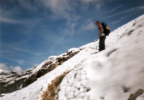 Schneefeld auf der Blüemlisalp
