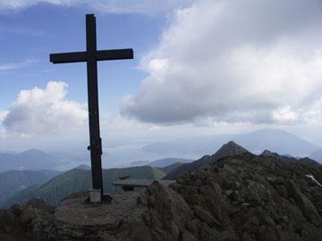 Gipfel des Monte Zeda