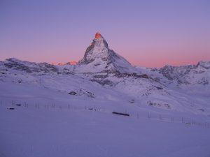 Das Matterhorn im Winter