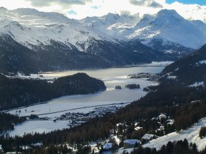 Schneewanderung am Corviglia in St. Moritz