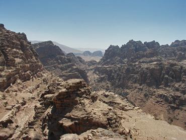 Aussicht über die verlassene Felsenstadt