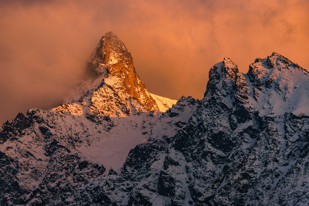 Alpenglühen in St. Moritz
