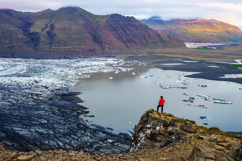 Blick auf die Gletscherlandschaft