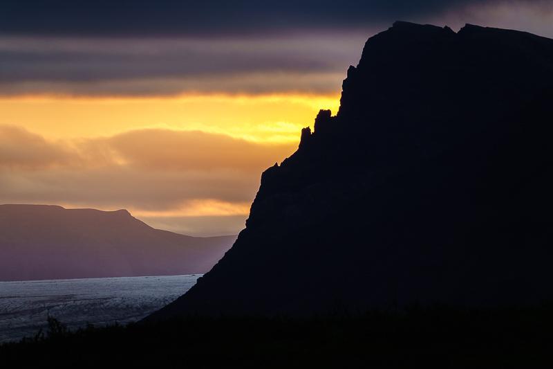 Letzte Abendsonne am Skaftafell