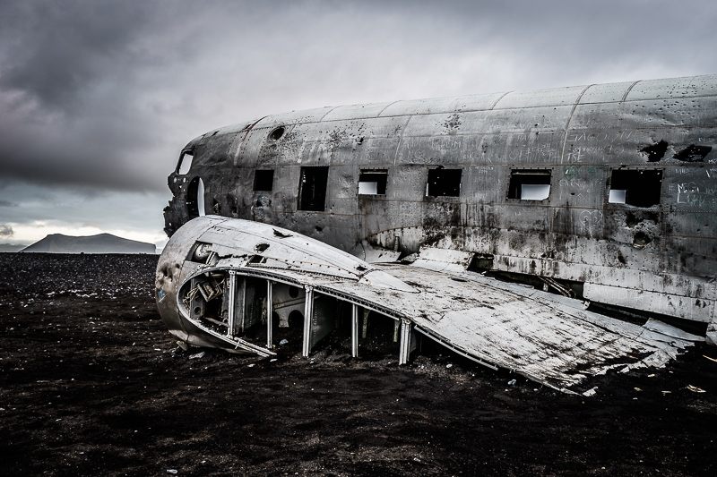 Seit 1973 liegt das Flugzeugwrack am Strand