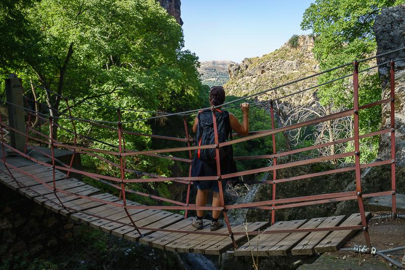 Mehrere Hängebrücken sind zu überqueren
