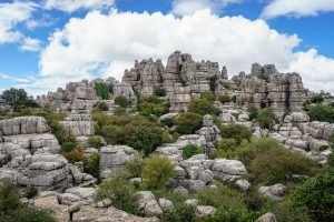 Wanderung um die Pancake-Felsen Torcal de Antequera in Andalusien