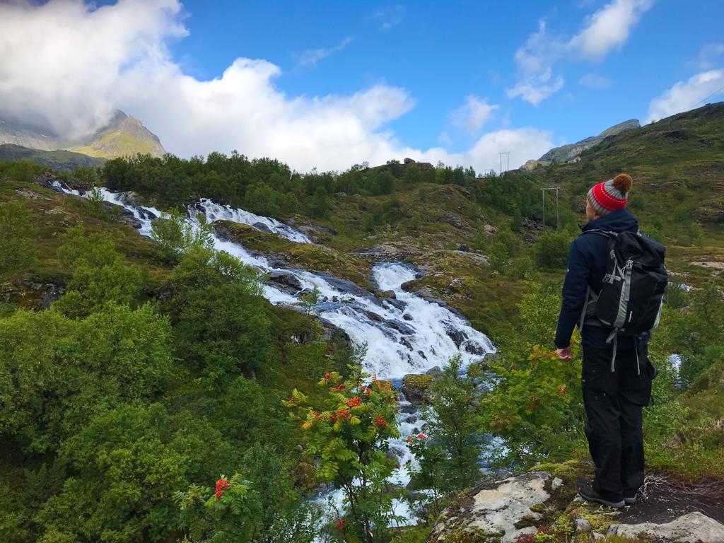 Wasserfall am Stuvdalsvatnet See